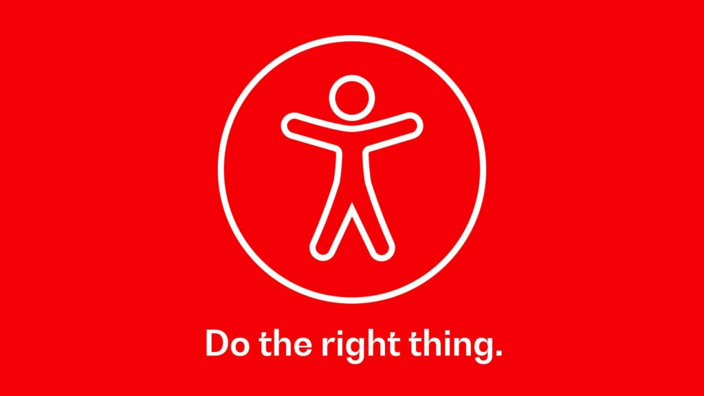 Accessibility Icon text Do The Right Thing